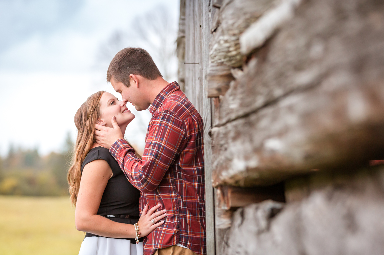 rustic barn engagement session in Eganville, Ontario