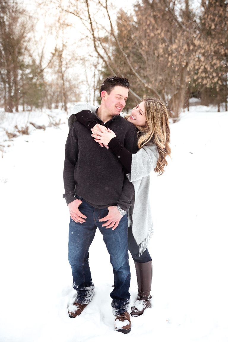 ottawa engagement photos in the snow